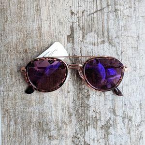 LAUNDRY BY DESIGN Tortoise Aviator Sunglasses